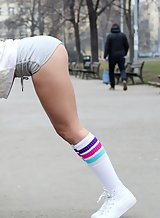 Sexy girl in sports socks getting fucked