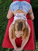 Lulu Love in Outdoor Tease by In The Crack