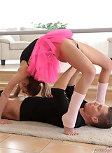 Flexible ballerina getting licked and fucked